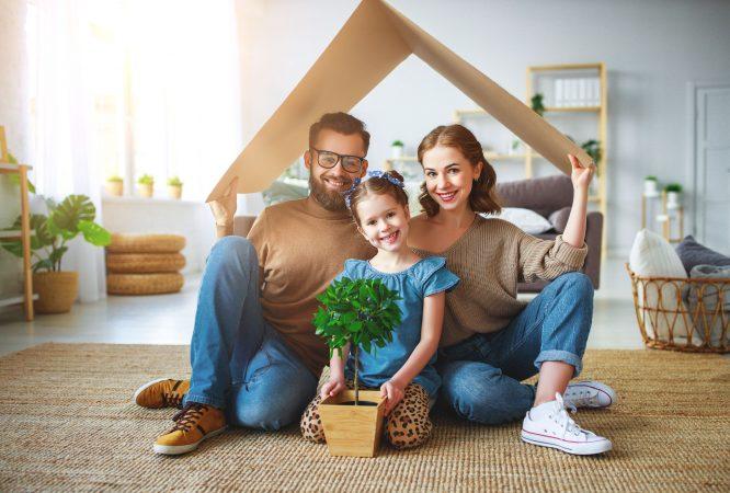 familia representando un hogar
